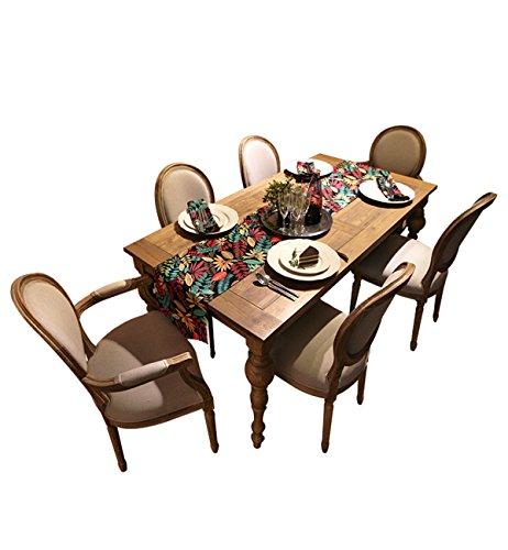 Sucastle® 35x220cm tissu Chemin de Table Cuisine Imperméable Décoration en Aspect naturel
