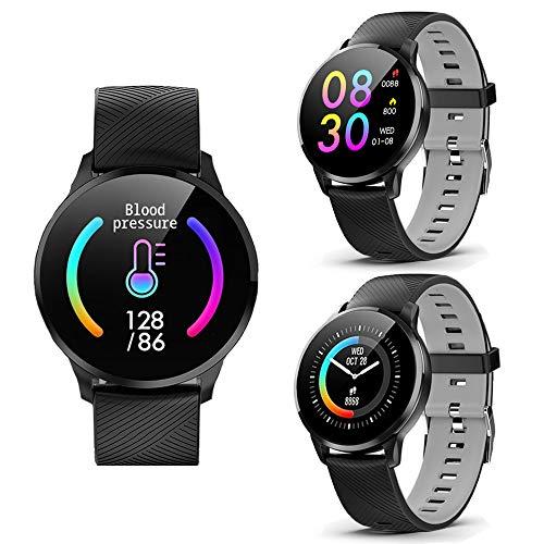 Indigi® Fitness Bluetooth inteligente reloj teléfono Siri integrado Monitor de ritmo cardíaco...