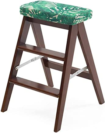ZHJBD Furniture Stool Wooden Adult Wood Ladder Chair Multifunctional Wooden Ladder Chair Foldable Shelving Ladder with 2 3Steps for Home Decoration and Library  Color  3