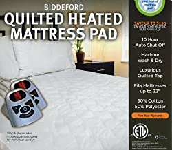 Biddeford Automatic Heated Quilted Mattress Pad White Color (1, Full)