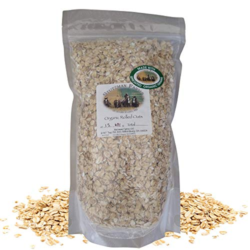 Sprouted Organic Rolled Oats, Gluten Free Certified, Non GMO, 1.5 lbs