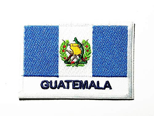National Flag República de Guatemala Central America The Coast is Bordered by The Entire Pacific Ocean Logo Patch Embroidered Sew Iron On Patches Badge Bags Hat Jeans Shoes T-Shirt Applique