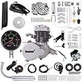 Seeutek PK80 80cc Bicycle Engine Kit 2-Stroke Gas Motorized Bike Motor Kit Upgrade with Speedoemter