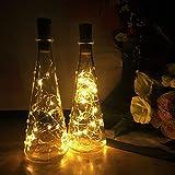 Sanniu Bottles Lights, 10 PacksCork Copper Starry Wine Bottle Fairy Lights for Bottle,...