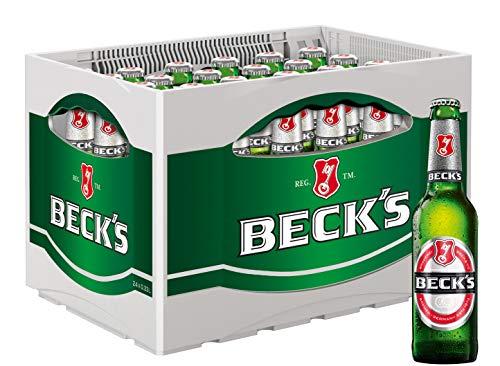 BECK'S Pils Flaschenbier, MEHRWEG (24 x 0.33 l) im Kasten, Pils Bier