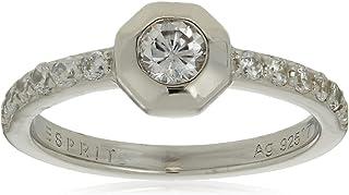 خاتم رقيق نسائي من الفضة 925 مع الزركون الشفاف من اسبريت
