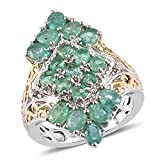 Shop LC 3 Ct White Diamond Ring Platinum Plated 925 Sterling Silver Mix Emerald Size 5