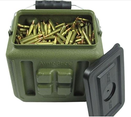 WaterBrick Stackable Ammo Storage Container- AmmoBrick 1.6 Gallon Portable Ammunition and Bullet Storage Solution - Maximize Your Readiness…