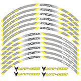 Calcomanías de la Rueda de la Motocicleta Pegatinas Rim Raya Frontal Ruedas TRASERAS para Yamaha MT-09 (Color : B Yellow)