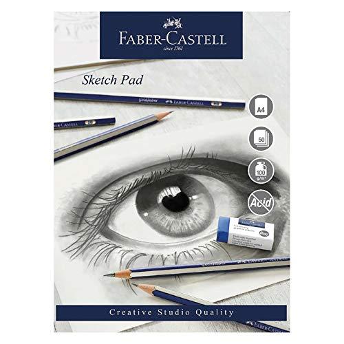 Faber-Castell Creative Studio Skizzenblock, A4 100 g / m² Block mit 50 Blatt