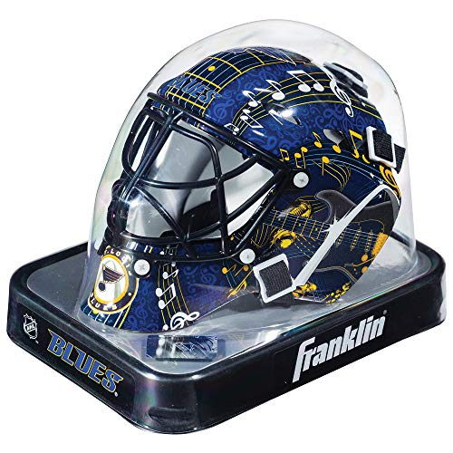 Franklin Sports NHL St. Louis Blues Mini Hockey Goalie Mask with Case - Collectible Goalie Mask with Official NHL Logos and Colors