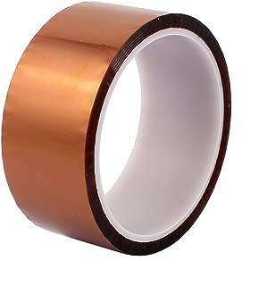WINGONEER 40mm x 33mポリイミド耐熱耐熱接着剤ゴールドテープ3Dプリンタプラットフォーム/電気タスク/はんだ付けタスク