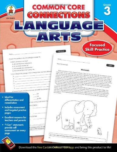 Common Core Connections Language Arts Grade 3