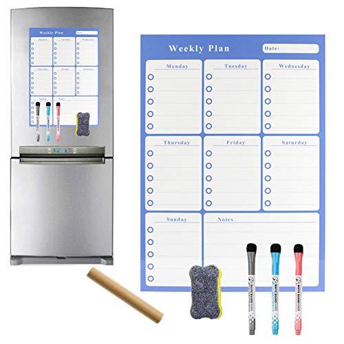 Maaltijd Planner Boord Wekelijkse Planner Whiteboard Keuken Prikbord Stok Op Whiteboard Whiteboard Papier Magnetische Kalender Voor Koelkast zjh-ql
