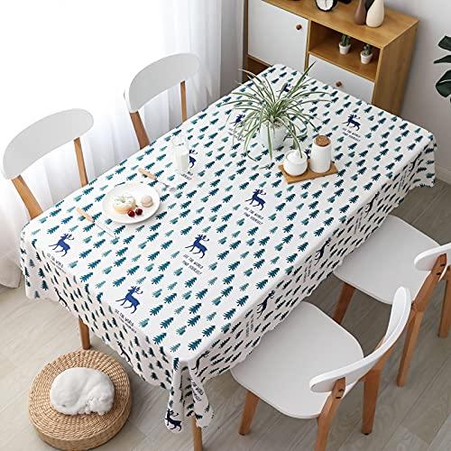XXDD Hule de poliéster Mantel a Cuadros Impermeable Blanco y Negro Cocina Comedor Cubierta de Mesa Decorativa Restaurante A4 150x210cm
