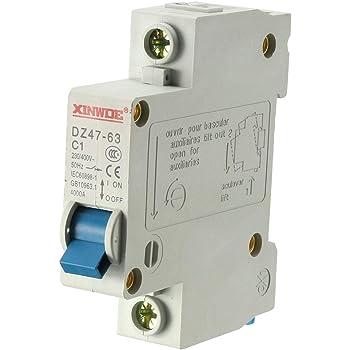 sourcing map 2p/ôle 6A 400V basse tension disjoncteur miniature t/étrapolaire DZ47-63 C6