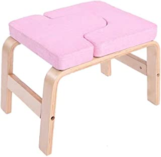 KJRJDL Yoga Headstand Bench - Yoga Inversion Stand Chair for Family, Gym Workout Fitness - Relieve Fatigue and Build Up Body 47 * 39cm (Color : Pink)