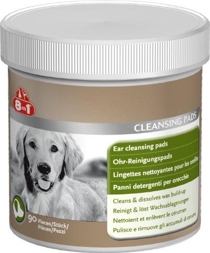 8in1 Ohren-Reinigungspads - speziell für die Ohrenhygiene bei Hunden entwickelte Pads, wiederverschließbare Dose mit 90 Stück