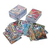 JAWSEU 200 Tarjetas Poke Cartas Coleccionables,New GX Collectible Cards Figure Set, Flash Card,Trainer Cartas, Juego de Cartas, Mejor Regalo Infantil TCG 195GX+5MEGA(4mega+1basic)