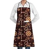 Babydo Chef Apron Steampunk Stoff Mit Taschen BBQ Damen Damen Mädchen Erwachsenen Lätzchen Schürzen Kochen Küche Künstler Malerei