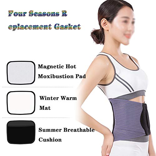 LSRRYD Adjustable Neoprene Lumbar Support Waist Massage Belt Lower Back Brace Support for Pain Relief of Stomach Muscle Abdominal, Suitable for Men Women (Size : M)