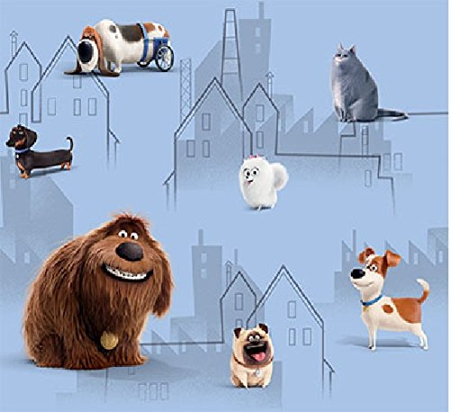DELUXE Disney the Secret Life of PETS 1 stuk XXL kant-en-klaar gordijn/sjaal/gordijn 250 cm lang x 140 cm breed ZUN/DIM OUT effect NIEUW