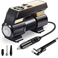 Upfox 12V DC Portable Digital Air Compressor Pump