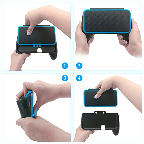 FastSnail Comfort Hand Grip for your NEW Nintendo 2DS XL/LL, Antiskid Protective Cover for your NEW Nintendo 2DS XL/LL