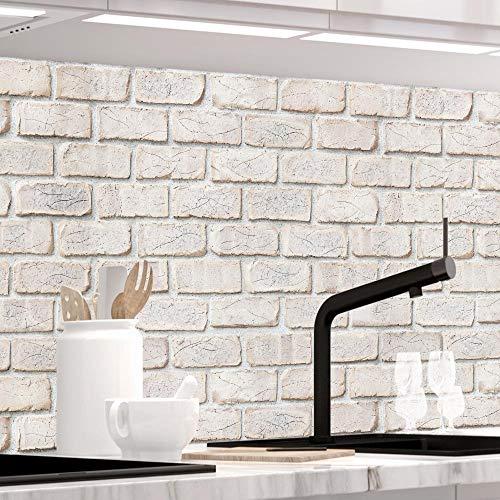 StickerProfis Küchenrückwand selbstklebend - GEKALKTE Wand - 1.5mm, Versteift, alle Untergründe, Hart PET Material, Premium 60 x 220cm