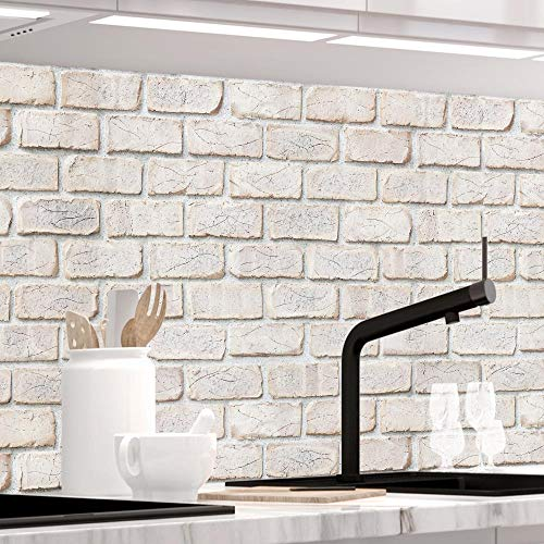 StickerProfis Küchenrückwand selbstklebend - GEKALKTE Wand - 1.5mm, Versteift, alle Untergründe, Hart PET Material, Premium 60 x 80cm