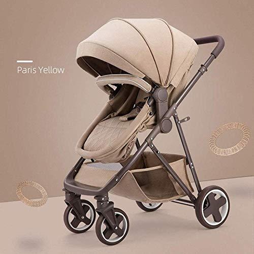 Landaus Poussette Poussette Transport, poussettes Buggy Compact, Portable Anti-Choc Poussette bébé Fournitures pour bébé ( Color : Brown )