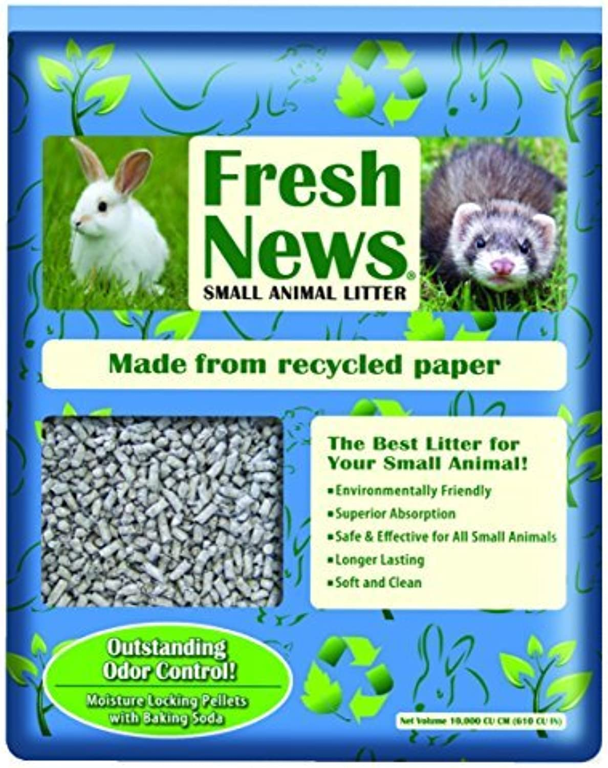 Fresh News Paper Small Animal Litter, 10,000Cubic Centimeter by Fresh News