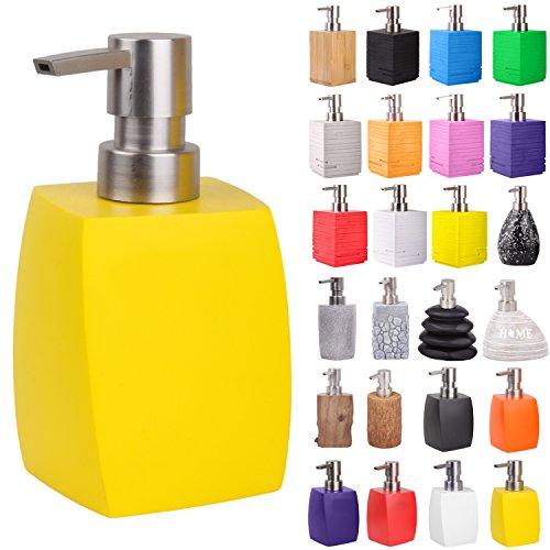 Seifenspender | viele schöne Seifenspender zur Auswahl | modernes, stylisches Design | Blickfang für jedes Badezimmer (Wave Gelb)