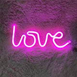 Insegna luminosa al neon a LED Luce notturna a forma di cuore a forma di stella di luna pe...
