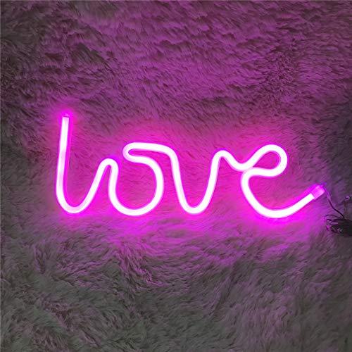 Ulalaza LED Neonlicht-Zeichen-Mond-Stern-Herz-Nachtlicht für Kinderzimmer-Wand-Kunst-Romantisches Weihnachtsgeburtstagsgeschenk