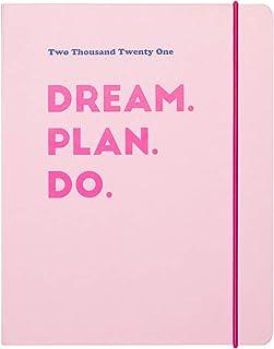 Agenda Settimanale 2021 Pink, ideale per la scuola, lavoro e tempo libero, 17 mesi, 16x20 cm