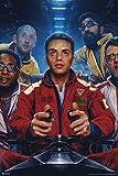 Logic Merch Incredible True Story Album Cover Art Spacesuits Rap Posters Rapper Merch Logic Merchandise Everybody Young Sinatra Bobby Tarantino Logic No Pressure Cool Wall Decor Art Print Poster 12x18