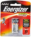 Energizer MAX Alkaline Batteries AAA 2 Pack