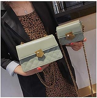 Adebie - Ladies Handbags Women Messenger Bags Flap Shoulder Bags Chains Fashion Solid Cross Body Bags Designer Brand Women Bags 2019 L Green []