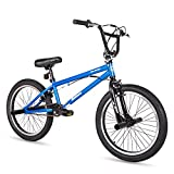Hiland 20 Inch Kids Bike Mountain Bicycle for Ages 4 5 6 7 8 9 Years Old Boys Girls White Blue