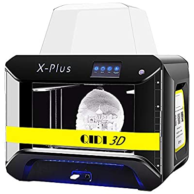 QIDI TECH 3D Printer, Large Size X-Plus Intelligent Industrial Grade 3D Printing with Nylon, Carbon Fiber, PC,High Precision Printing 10.6x7.9x7.9 Inch