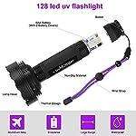 UV Blacklight Flashlight, Super Bright 128 LED Pet Dog Cat Urine Detector light Flashlight for Pet Urine Stains, UV Black light Flashlight for Bed Bugs, Scorpions Hunting 10