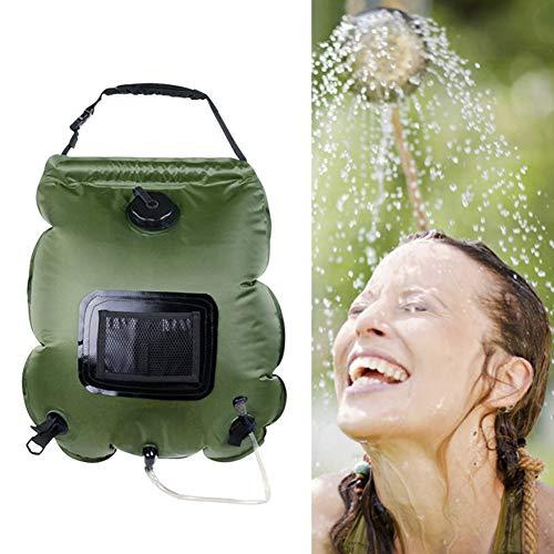 Dusche 20l Sonne Camping Portable Solar Heizung Wassertasche Abnehmbarem Schlauch Und On-Off Schaltbare Duschkopf Für Strand, Schwimmen, Reisen