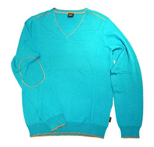 BOSS BLACK Pull en tricot Gary moderne Essential couleur bleu 446 G : L
