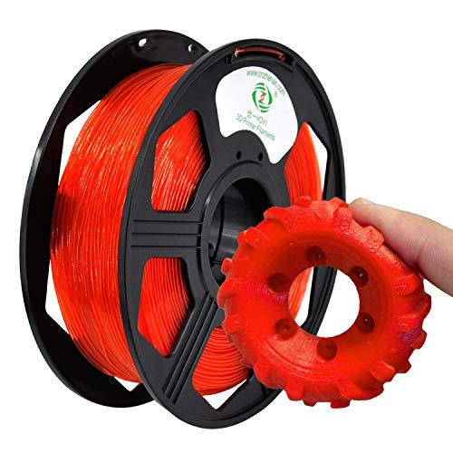 YOYI TPU 3D Printer Filament,Flexible Filament 1.75mm,100% Virgin Raw Material,0.8KG Spool,Dimensional Accuracy +/- 0.03 mm (Coral)