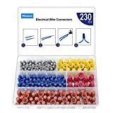 230PCS Wire Nuts Connectors Screw Terminals - Twist Nuts Caps Wire Connectors, with Spring...