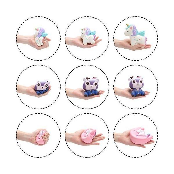 BeYumi Slow Rising Toy, Unicorn, Panda, Deer, Cat Squishy Toy, Kawaii Jumbo 10 Pcs Cream Scented Simulation Cute Animal… 9