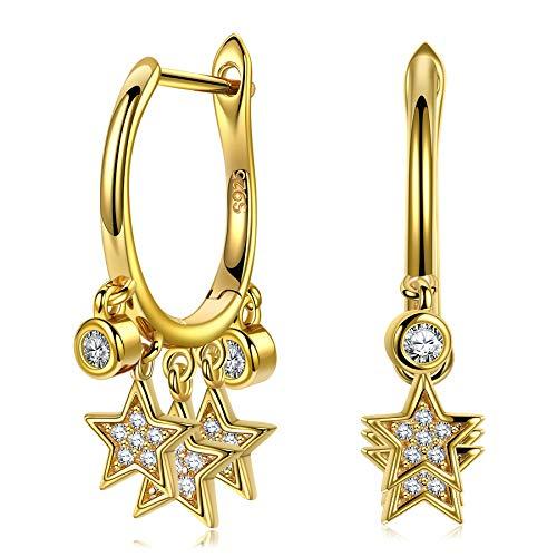 ANNA NUCCI Pendientes para las mujeres 925 regalos de plata esterlina de la Mujer de San Valentín regalos para ella Pendientes de diseño original
