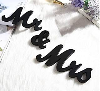 Haperlare Black Wood Sign Vintage Style Mr and Mrs Sign Mr & Mrs Wooden Letters Rustic Wedding Signs for Wedding Table,Photo Props,Party Table,Top Dinner,Rustic Wedding Decorations