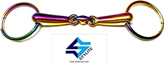 stylite Loose Ring Snaffle Bit Stainless Rainbow Color